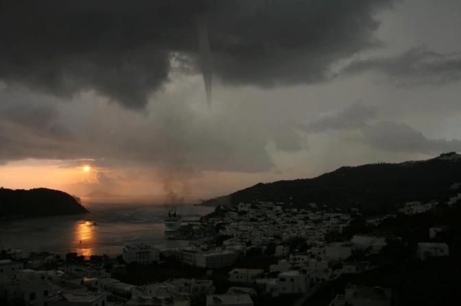 Small  Tornado in Patmos Port