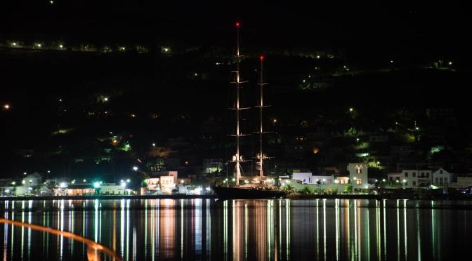 A 'Royal' Sailboat at the port of Patmos