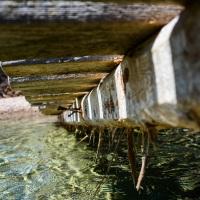 Α wooden dock in the sea