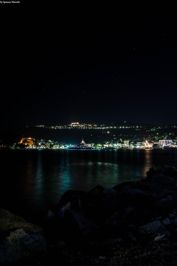 Blue lights on port